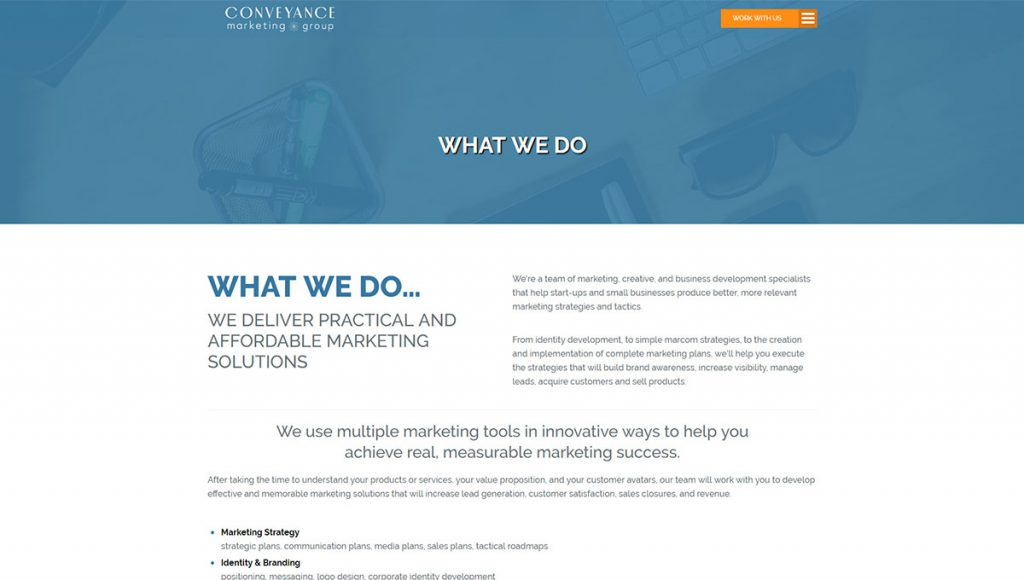 CONVEYANCE MARKETING GROUP